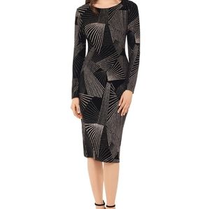 Betsy & Adam Geometric Pattern Dress (glitter)